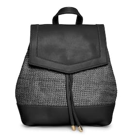 Kielz-Black-Synthetic-Women-Backpack