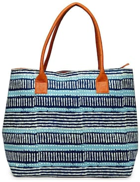 Kielz Fabric Women Handheld Bag - Blue
