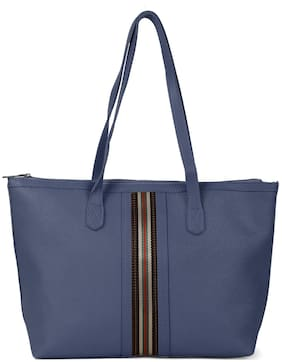 Kielz Women Solid Synthetic - Tote Bag Blue