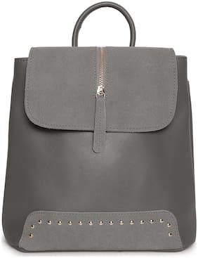 Kielz Grey Synthetic Backpack
