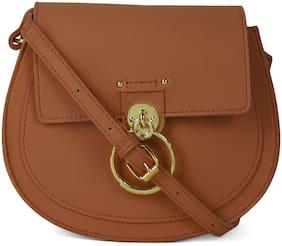 Kielz Women Solid Synthetic - Crossbody Bag Brown