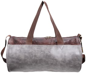 Killer Royal Pu 21 Litre Stylish Grey Gym Bag