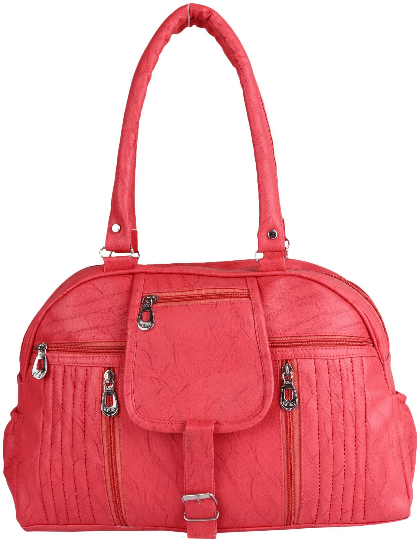 Kismat Fashion Orange PU Shoulder Bag