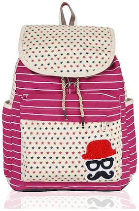 Kleio Pink Polyester Backpack