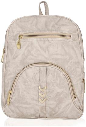 Kleio White PU Backpack