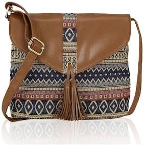 Kleio Multi Canvas Printed Sling Bag