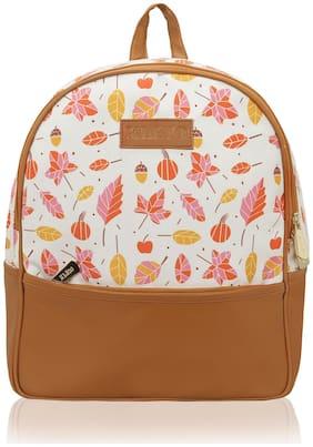 Kleio White Canvas Backpack