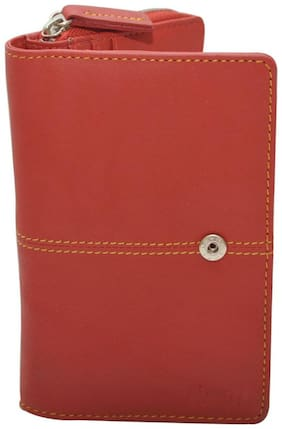 Knott Women Leather Wallet - Red