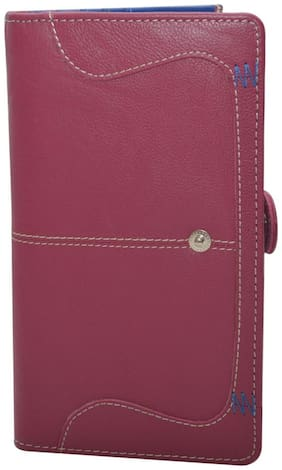 Knott Women Leather Wallet - Pink