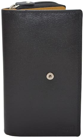 Knott Women Leather Wallet - Black