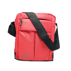 KnW Polyester Messenger Red Slings For Unisex