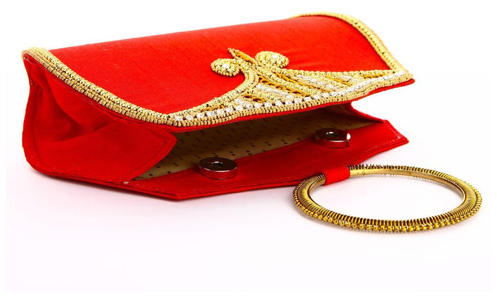 f98cf41d8c4a Buy LadyBugBag Red Silk Designer Handbag Online at Low Prices in India -  Paytmmall.com
