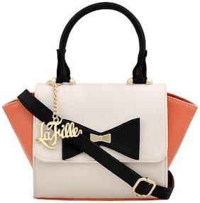 La Fille Pu Women Handheld bag - Orange