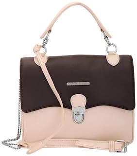 Lapis O Lupo Women Solid Pu - Sling Bag Brown