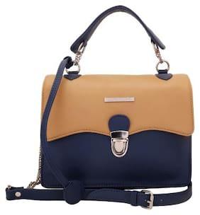 Lapis O Lupo Women Solid Pu - Sling Bag Beige