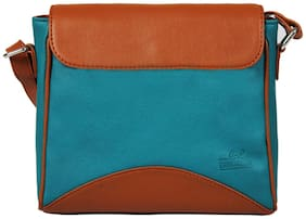 Lapis O Lupo Blue And Brown Sling Bag (Pack Of 3)