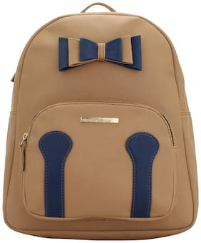 Lapis O Lupo Beige Faux Leather Backpack