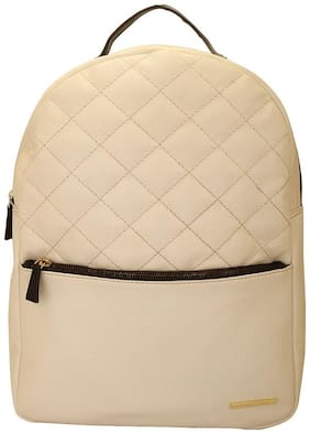 Lapis O Lupo White PU Backpack