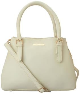 Lapis O Lupo Beige Faux Leather Handheld Bag