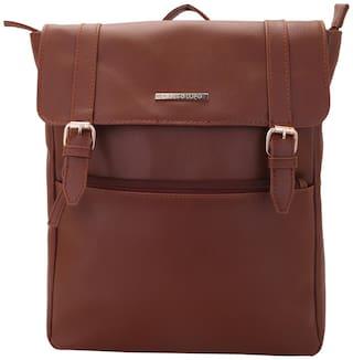 Lapis O Lupo Tan PU Backpack