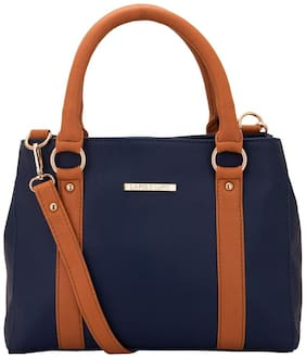 Lapis O Lupo Faux Leather Women Handheld Bag - Blue