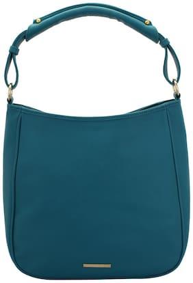 Lapis O Lupo Blue Faux Leather Handheld Bag