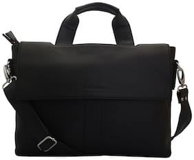 Lapis O Lupo Black PU Laptop Backpack