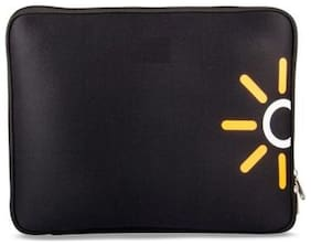 FRNDZMART Black Nylon Laptop sleeve