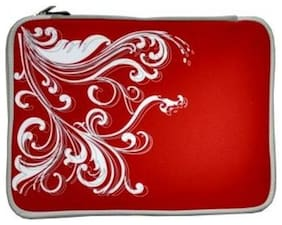 Laptop Sleeve - 37.06 cm (14.6 Inch)  Red Floral pattern for Dell,Samsung,Lenovo,Asus,Zenbook,HP)
