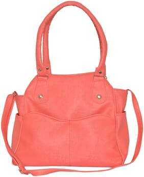 Tulip Pink PU Shoulder Bag