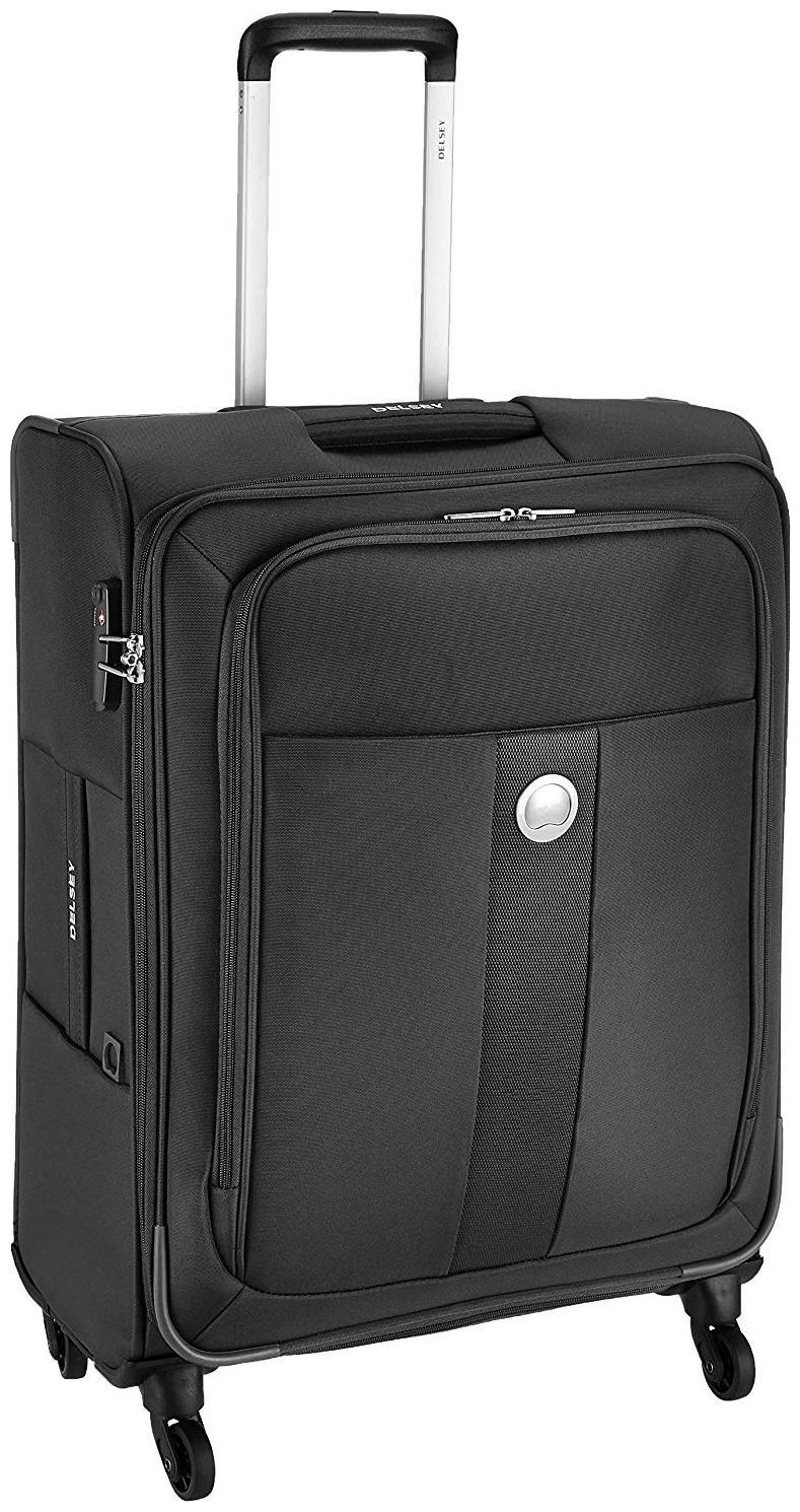 Delsey Cabin Size Briefcase   Luggage Set   Black , 4 Wheels