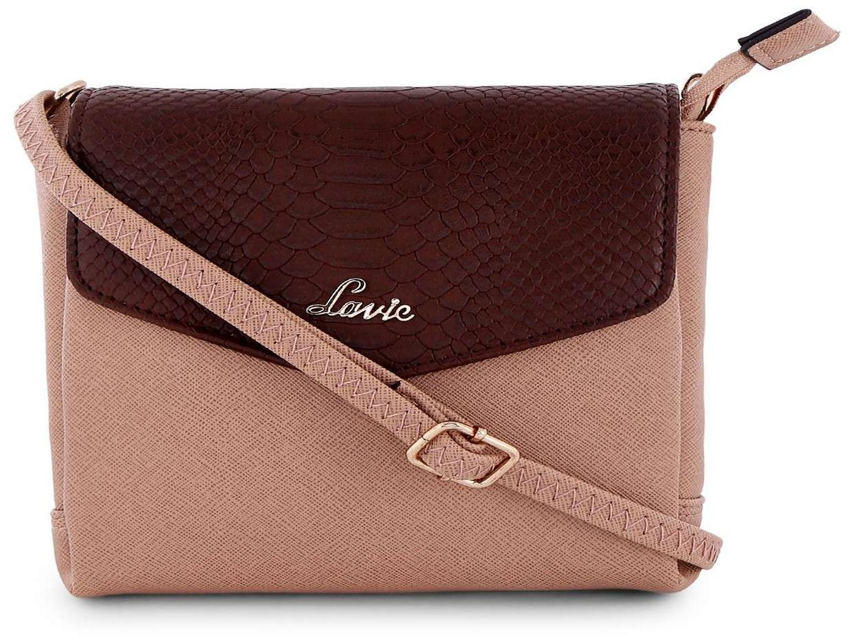 a7922310a Buy LAVIE Women Solid Pu - Sling Bag Beige Online at Low Prices in India -  Paytmmall.com