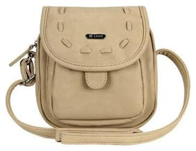 LAVIE Beige PU Solid Sling Bag