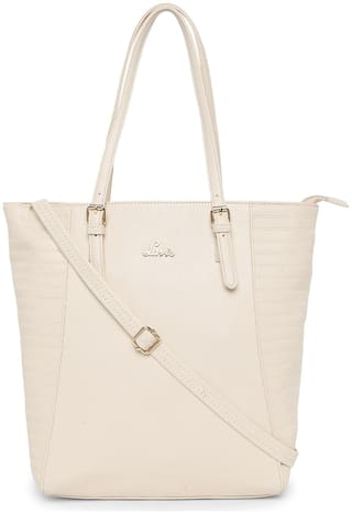 LAVIE Beige PU Handheld Bag