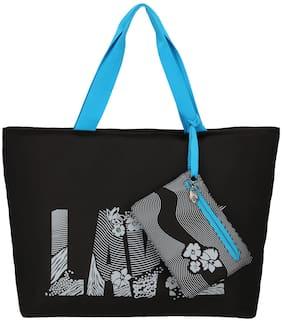 LAVIE Black Polyester Handheld Bag - RUMBA HANDBAG - BLK