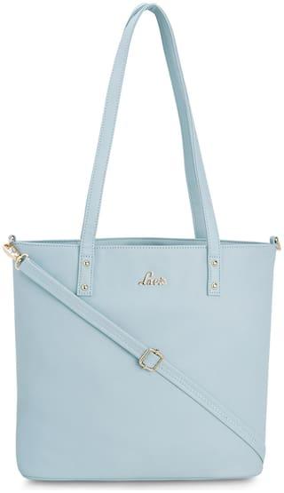 LAVIE Oversized Solid Handheld Bag Blue