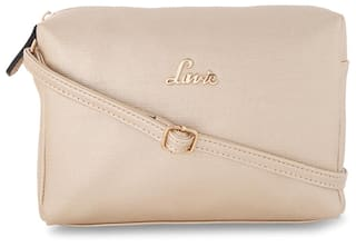 2b4f38853 Buy LAVIE Women Solid Faux Leather - Sling Bag Gold Online at Low ...