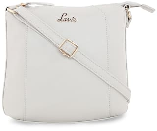 77823a1ae7f Buy LAVIE Women Solid Faux Leather - Sling Bag Grey Online at Low ...