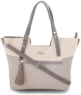 Lavie Grey Women Tote Bag