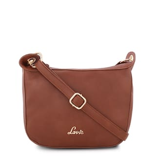 c486c0e9e Buy LAVIE Women Solid Pu - Sling Bag Tan Online at Low Prices in ...