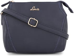 LAVIE Blue PU Solid Sling Bag