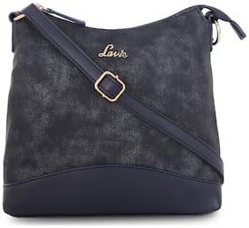 LAVIE Blue Faux Leather Solid Sling Bag