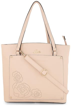 LAVIE Women Solid Faux leather - Tote Bag Pink