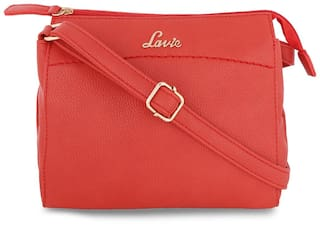 c403c912ad8 Buy LAVIE Women Solid Faux Leather - Sling Bag Pink Online at Low ...