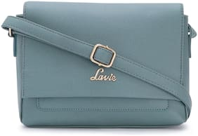 LAVIE Blue PU Solid Sling Bag