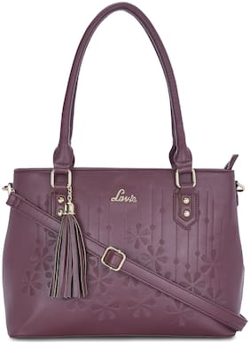LAVIE Purple PU Satchel