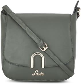 LAVIE Green PU Solid Sling Bag