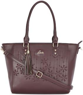 LAVIE Women Textured Pu - Tote Bag Brown