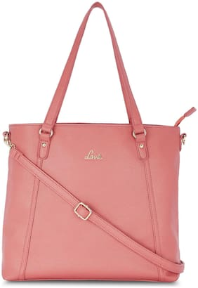 LAVIE Women Solid PU - Tote Bag Pink