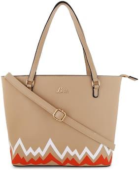 LAVIE Beige PU Shoulder Bag